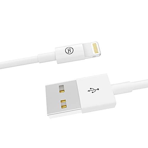 Heardear Cable iPhone Cable 2M,6.6FT Cargador iPhone iPad Cable Lightning a USB [Certificado MFI] para iPhone XS/XS Max/XR/X/8/7/6/6plus/5s/5c/SE,iPad Pro/Air/Mini,Original