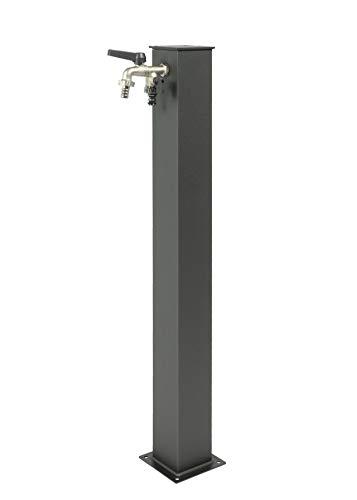 belfer Fuente de jardín con doble grifo 42QRR gris antracita