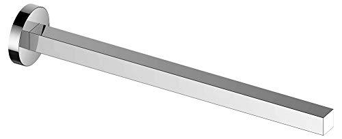 KEUCO Handtuchhalter aus Metall, hochglanz-verchromt, einarmig, starr, 34cm tief, für Badezimmer und Gäste-Toilette, Wandmontage, Edition 90