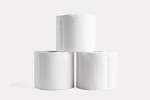 Bazoo Papel higiénico de bambú blanco | Caja de 24 rollos (3 capas, 300 hojas) | Hipoalergénico, sin plástico, respetuoso con el medio ambiente (negativo al carbono), súper suave, fuerte y sostenible