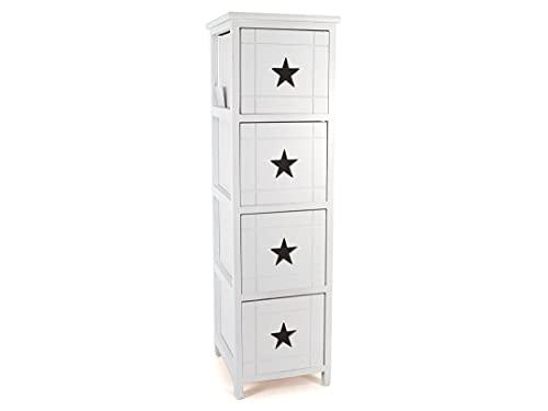 Gerimport Cajonera 4 Cajones Star Blanca 26x29x90