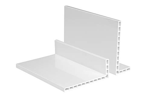 2 Meter | Profile |Hohlkammerwinkel | PVC | Hexim | weiß | 680/30