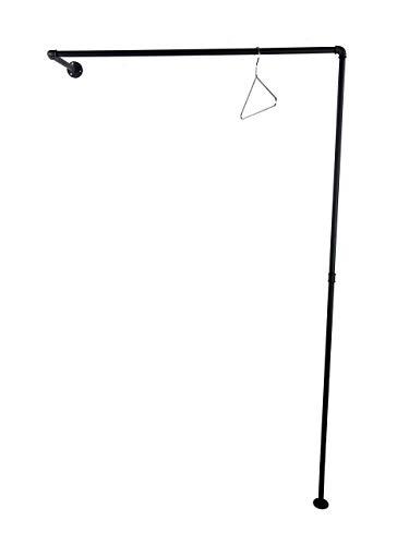 Kleiderständer, Breite 80 oder 100cm, schwarz Metall, 186cm Höhe, stabile Garderobe, Kleiderstange Industrial Design, Standgarderobe