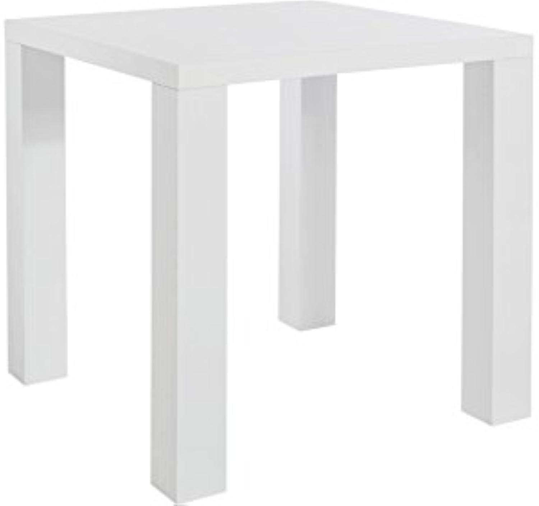 Loft24 Skylar Esszimmertisch 80x80 cm Esstisch wei Küchentisch Holztisch Arbeitstisch Tisch MDF Holz Hochglanz Küche modern