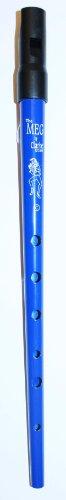 Clarke Pennywhistle TIN Whistle Stimmung C blau - die beliebte Whistle vom Originalhersteller aus England mit Grifftabelle und Noten zu 4 Songs