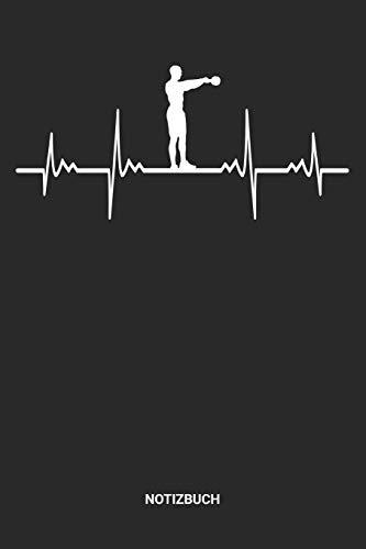 Notizbuch: A5 Notizheft mit punktierten Linien für Gewichtheben Freunde Ideales Herzschlag Kugelhantel Journal oder Notizbuch. Perfektes Tagebuch oder ... Liebhaber Geschenkidee für Männer und Frauen
