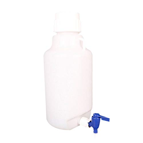 ULTECHNOVO Dispensador de Plástico de 5L Botella de Agua de Garrafón Contenedor de Jarra de Galón Dispensador Resistente a Roturas Contenedor de Agua de Laboratorio con Grifo para