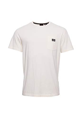 Superdry Hombre Camiseta de Corte Cuadrado NYC Crema XXL