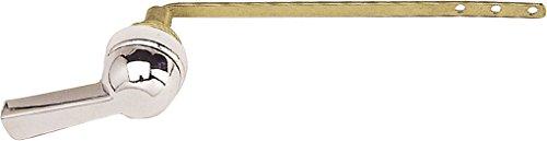 fominaya 142019130 Pulsador frontal manivela cromado, metálico (longitud 230 mm), Negro, Estandar