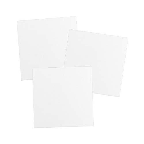 Lienzo sobre bastidor, 280 g/m², color blanco, ideal para pintar con pinturas acrílicas (20 x 20 cm, 3 unidades)