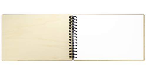 Álbum con tapas de madera (diferentes formatos y rellenos) (30 x 20 (apaisado) - hojas BLANCAS)