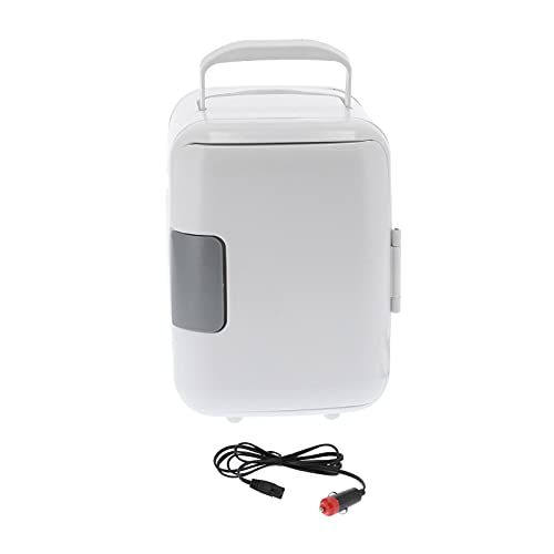 Mini Nevera Eléctrico Enfriador y Más Cálido (4 litros / 6 Can), Exterior Carro Familiar Medicamento Almacenamiento Refrigerador, Portátil Termoeléctrico Enfriador y Más Cálido por Viaje