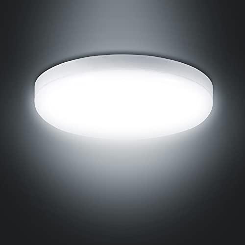 Combuh LED Lámpara de Techo Plafon LED 20W 1600LM 6000K blanco frío Moderna Plafones de techo IP56 Impermeable redondo Lamparas para Habitacion Cocina Salon Dormitorio