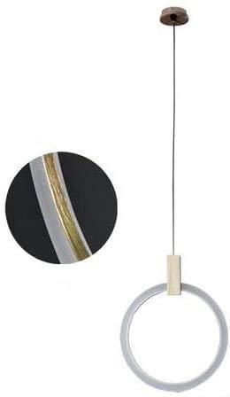 Wlnnes Personalidad creativa colgante círculo Lámparas nórdica estilo de la lámpara de la sala de diseño decorativo caída de la lámpara de luz LED Luces simple cocina del restaurante Isla de Droplight