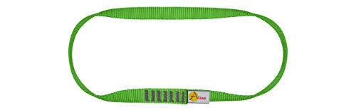 ALIENS Bandschlinge Open Sling (Bruchlast 22 kN/2200kg, 16 mm Breite) Verschiedene Längen in unterschiedlichen Farben, Farbe:30 cm grün