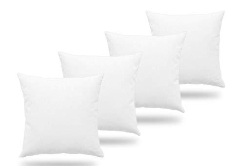 4 Rellenos cojines sofa hipoalergénicas para funda cojines decoracion y para almohadas de cama (Pack 4 45x45)