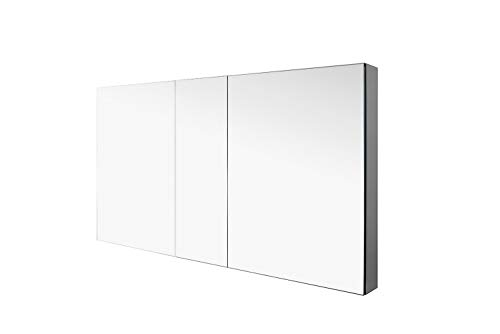 Virtu J-MED01A50 Confiant Mirrored Medicine Cabinet Recessed or Surface Mount, 50'