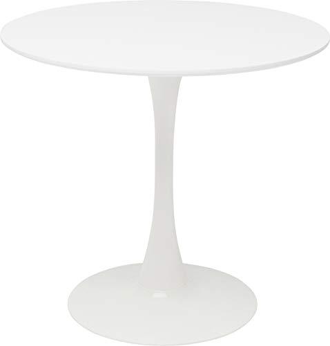 Kare Design Tisch Schickeria Ø80 cm, Esstisch weiß, runder Esstisch, runder Tisch, (H/B/T) 72x80x80cm