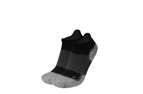 Diabetic and Neuropathy Non-Binding Wellness Socks by OrthoSleeve WC4 Improves Circulation and Helps with Edema (Large, NoShow, Black)
