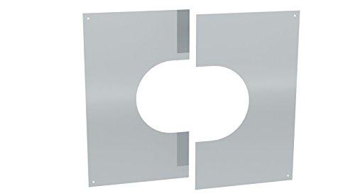 Wandblende / Deckenblende zweiteilig 31°- 45° für doppelwandige Schornsteine DW; Ø 150mm Innendurchmesser, Edelstahl