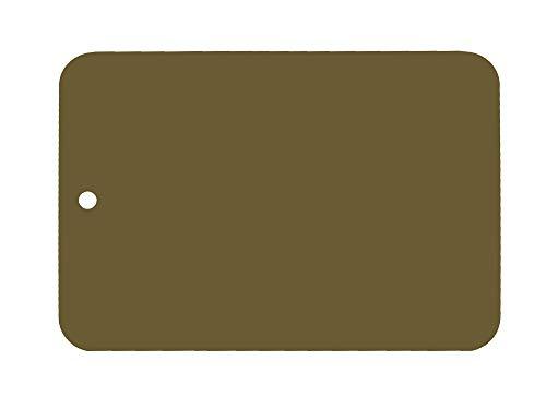 Leifalit Farbmuster lackiert auf Blech, Leifalit, Olivgrün, glänzend