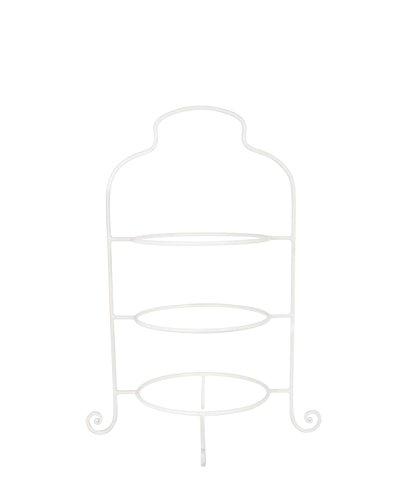 IB Laursen - Etagere, Tellerhalter, Tellerständer - 3 Etagen - passend für alle Teller mit Ø: 21 cm - Farbe: Weiß
