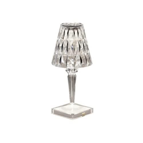 klop Lámpara de Mesa de LED de Diamante de Cristal, lámpara de Noche de acrílico táctil de Noche de luz de Noche con Carga USB, lámpara de Noche única para Dormitorio, Sala de Estar y Sala de Estudio