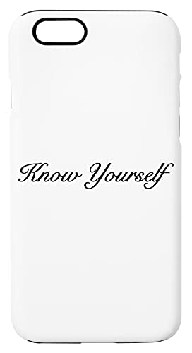 Know Yourself Custodia Per Telefono Compatibile Con iPhone 6, iPhone 6S Copertura in Plastica + Silicone Dura Hard Plastic Cover