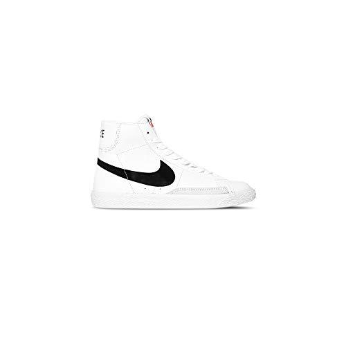 Nike Blazer Mid (GS) Kinderschuhe - Synthetik, Weiß - Weiß-Schwarz - Größe: 40 EU