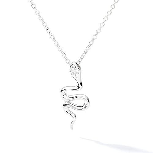 SWAOOS Collar de Serpiente para Mujer Animal de Acero Inoxidable Collar con Colgante de Serpiente Estilo Minimalista Regalo de Moda 43Cm