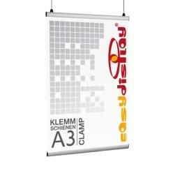 Plakatschienen, Clamp, Posterschienen DIN A3/29,7cm Klemmschienen, Posterklemmen
