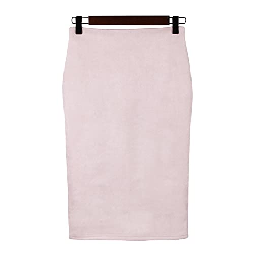 Falda Mujer Faldas Cortas De Cintura Alta Sólidas De Oficina De Estilo Inglés para Mujer, Falda Recta A La...