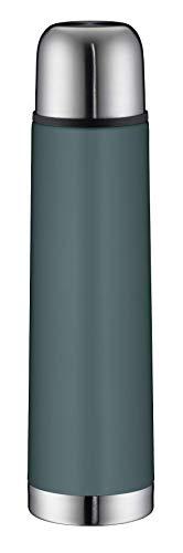 alfi Isolierflasche Edelstahl isoTherm Eco, Edelstahl türkis 750ml, Thermosflasche mit Becher 5457.293.075 dicht, Drehverschluss, Thermoskanne 12 Stunden heiß, 24 Stunden kalt, BPA-Frei