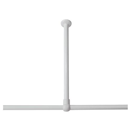 Sealskin Deckenhalterung für Duschvorhangstange, Durchmesser 28 mm, Aluminium, Farbe: weiß, 60 x 2,8 x 2,8 cm