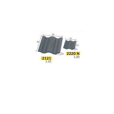 Aziatische aedes21211 schaal 1: 10 zwart Big Portugees dakpannen (100)