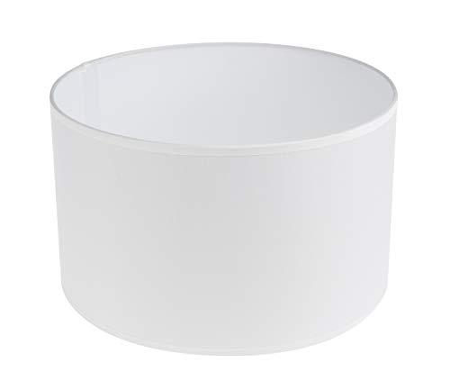 Rayher Hobby 2308302 Lampenschirm, rund, 25 cm ø, Höhe 15 cm, 100% Polyester, für Steh- oder Hängelampe, auch zum Bemalen und Bekleben, weiß