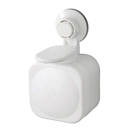 shidunzi Dispensador de jabón a presión para Montaje en Pared, Ducha, baño, dispensador de champú, contenedor de jabón líquido, Accesorios de baño (Blanco)