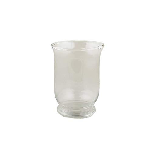 Verre transparent bougeoir petite bougie décoration bougie lanterne lumière bouche vase simple salon décoration maison cuisine ornements bougie présentoir (Taille : S)
