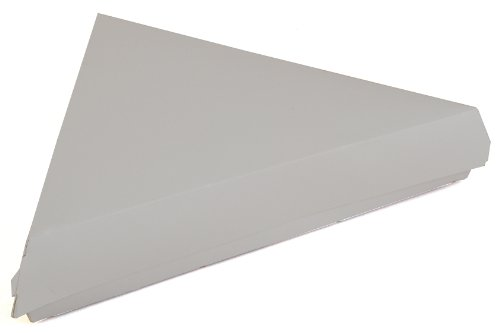 Southern Champion Tray 0719 Paperboard White Pizza Slice Clamshell Food Container, 9-1/4' Length x 9' Width x 1-11/16' Height (Case of 400)