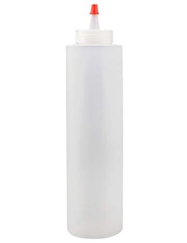 jky Squeeze fles knijpfles met dop, fles drukknoppen condiment flessen ketchup doseerfles transparant plastic flessen voor mosterd, honing, sla, olijfolie, thuis, restaurant, 16 oz