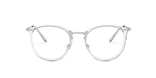 Ray-Ban unisex adult Rx7140 Prescription Eyeglass Frames, Transparent/Demo Lens, 49 mm US