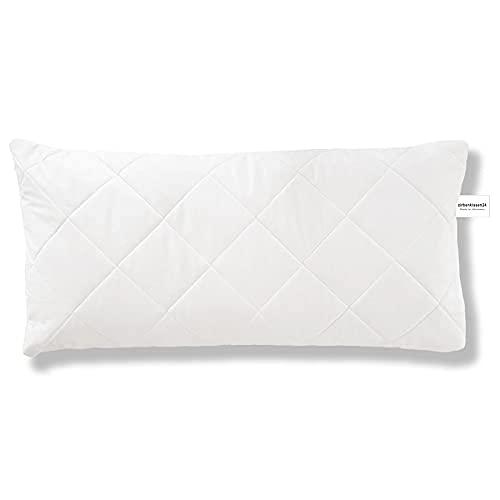 zirbenkissen24 Funda de almohada de alta calidad, 100% algodón de alta calidad, acolchado a cuadros, con cremallera, fabricado en Alemania, en 4 tamaños a elegir (40 x 60)