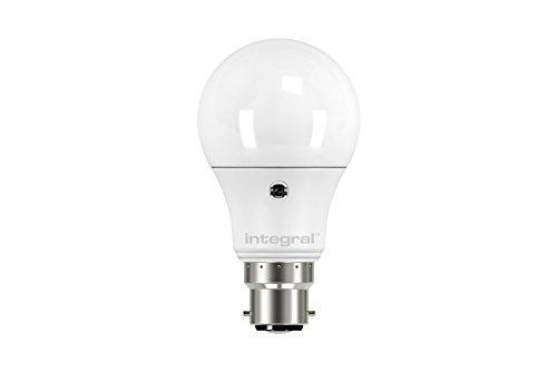 Integrale LED-lampen, grote bajonetfitting, 6,6 W, met sensor, klassieke bolvorm