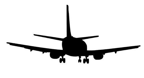 generisch Flugzeug Aufkleber Motorflugzeug Autoaufkleber in 15cm, 20cm oder 30cm (151/7) (schwarz Glanz, 15cm)
