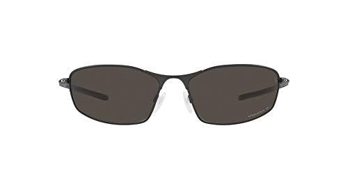 OO4141 Whisker Sunglasses, Satin Light Steel/Prizm Grey Gradient, 60mm