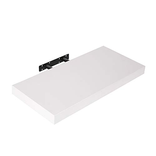 Edaygo Estante de Pared | Estante Flotante, 50 x 23,5 x 3,8 cm, Blanco