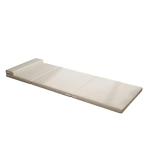 Colchón Plegable, 200x60x6cm Colchón Auxiliar Plegable Multifunciones con Atar La Cuerda Y Funda Removible