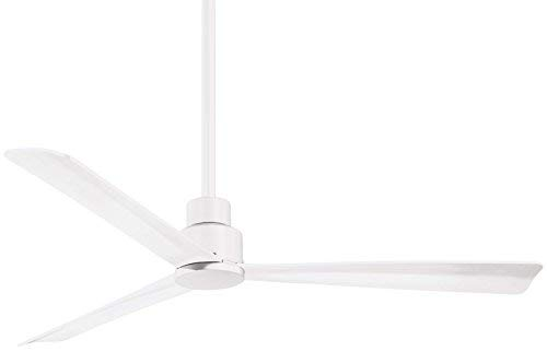 Minka-Aire F787-WHF Protruding Mount, 3 Flat White Bladed, Smart Ceiling Fan, White - Ivory