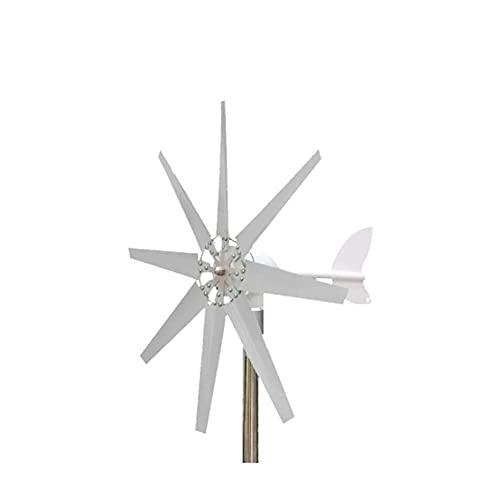 JANEFLY Generador de turbinas eólicas de 600 W Apto para el generador de Viento de la Planta de energía de la luz de la Calle del Parque doméstico con Controlador, 8 Cuchillas, 12 v