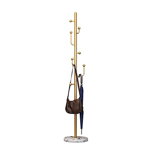 Perchero independiente Pantalla de abrigo de piso de metal simple y moderno, capa vertical para el hogar y estante para sombrero para la sala de entrada de la sala de vestíbulo. Balcón Percha de pie p